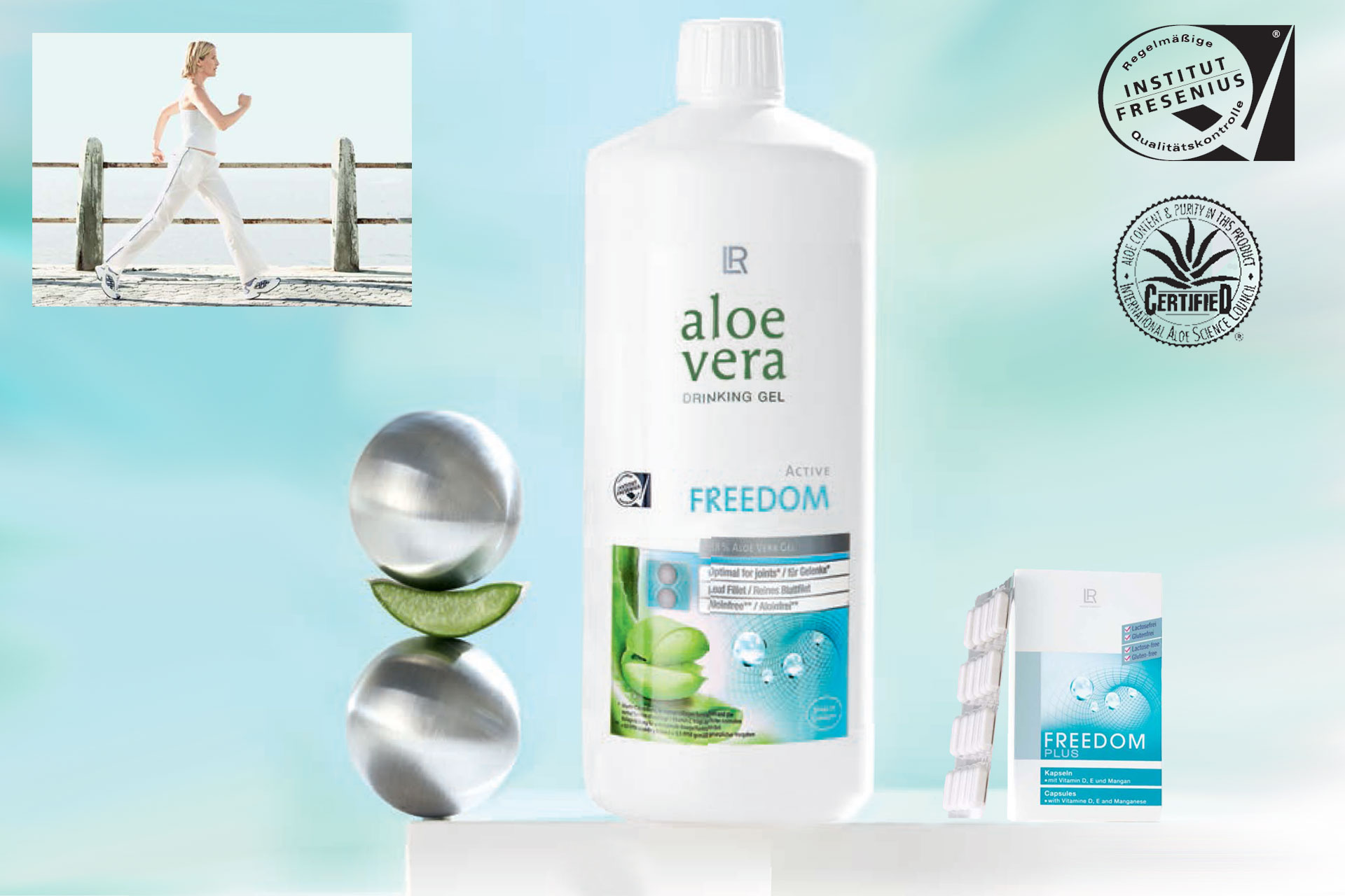 Aloe Vera Gel Bebible Freedom y cápsulas Freedom+